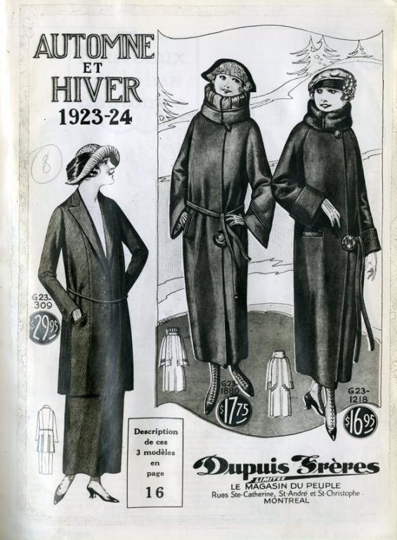 Le catalogue automne-hiver 1923-1924. Sous sa signature, Dupuis se présente comme le «magasin du peuple».