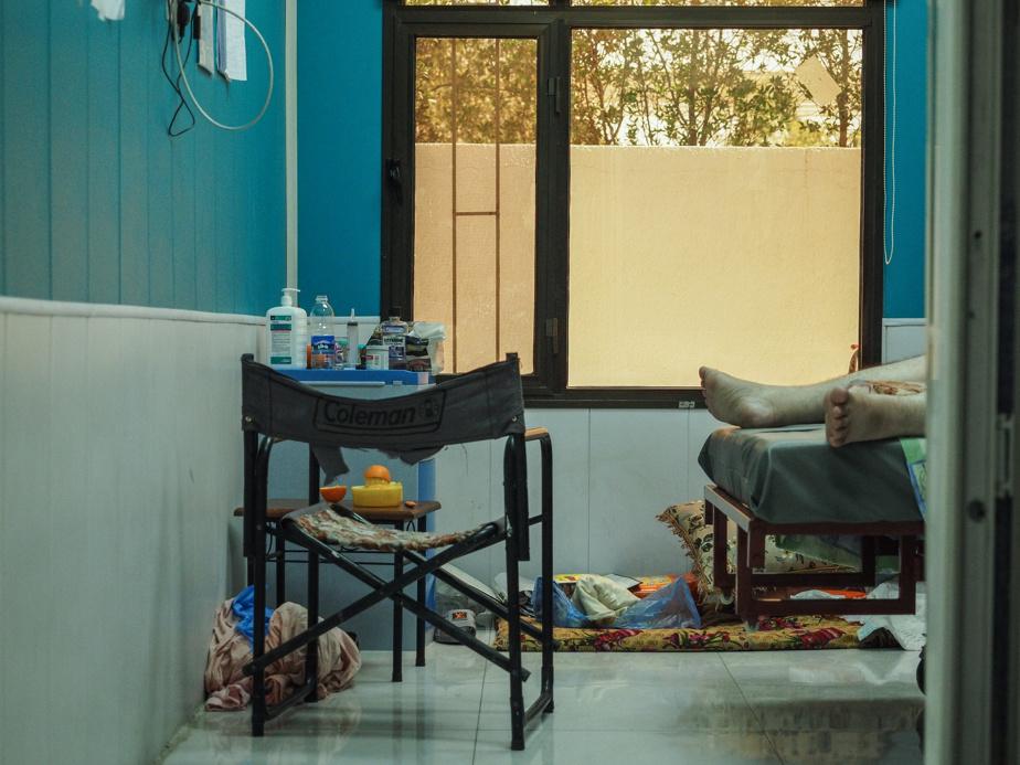 A room in the intensive care unit of Al Kindi hospital