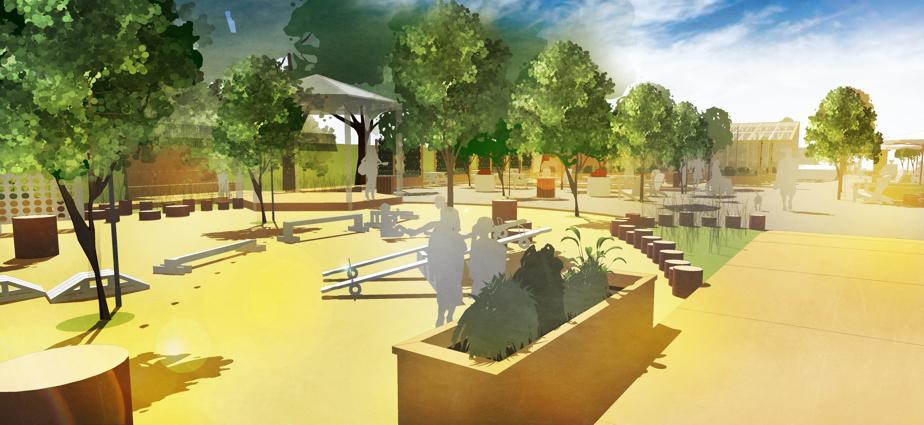 Les Jardins de La Pépinière: un tout nouvel espace familial aménagé sur un terrain vague près de la rue Ontario Est.