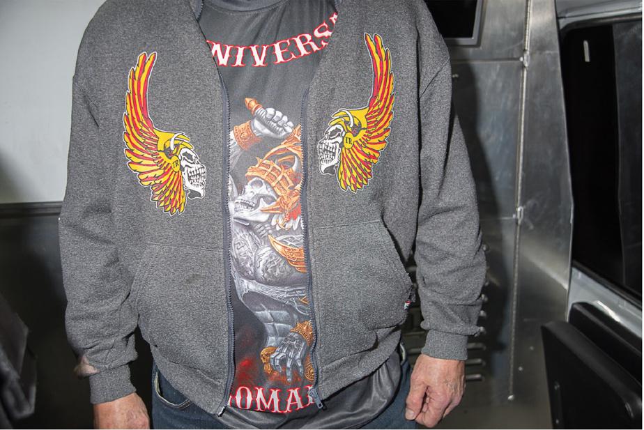 L'État veut confisquer ce kangourou aux couleurs des Hells Angels porté par Yves Gagné.