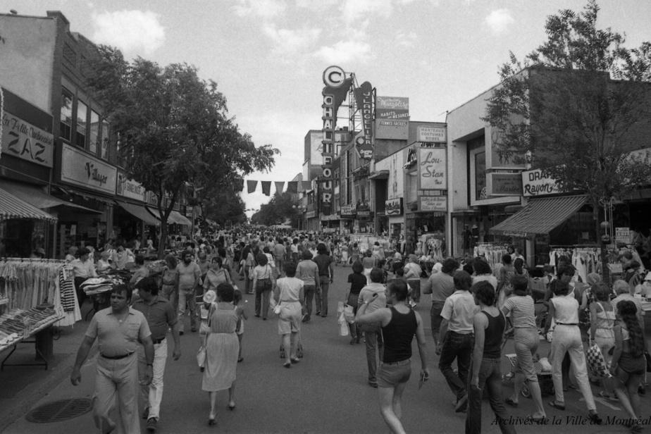 Foire commerciale vers 1980