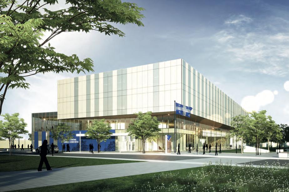 Vue extérieure de la future école secondaire qui sera construite à Sainte-Geneviève
