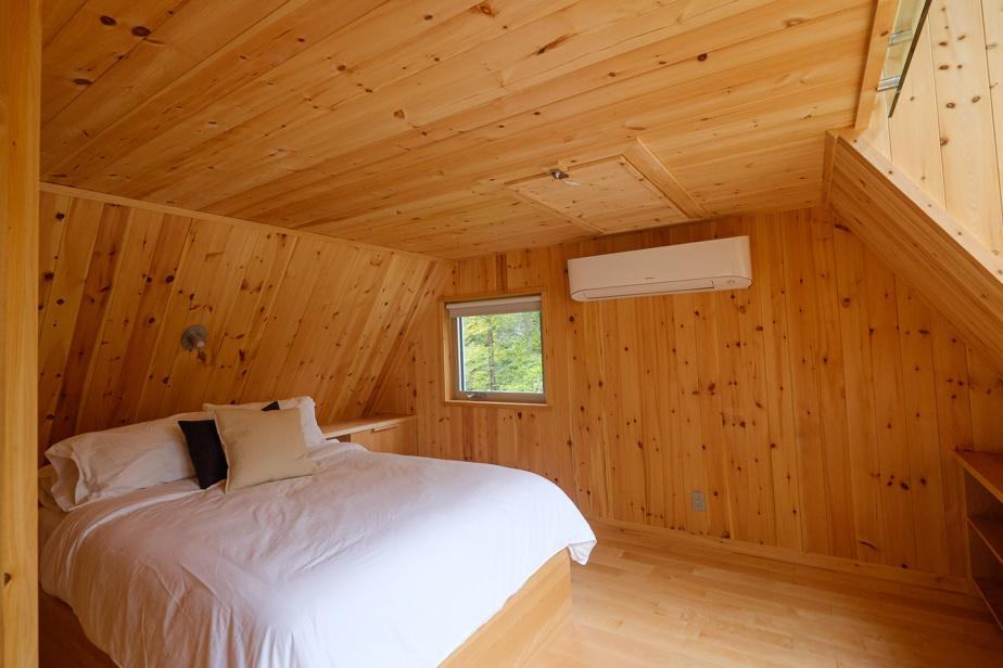 Les chalets sont dotés d'une à quatre chambres.