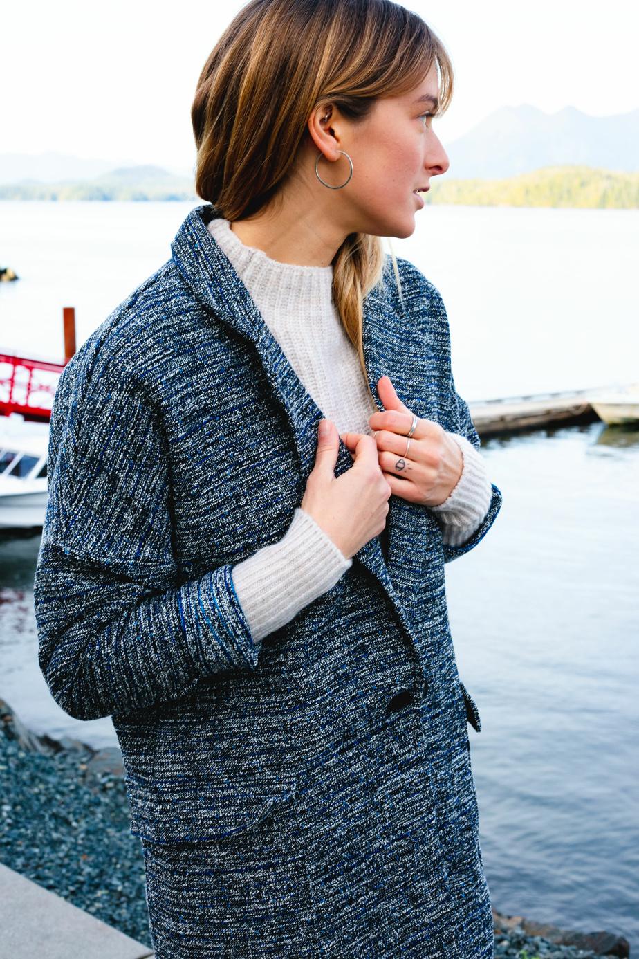 Veste en tweed, 135$, Louve Design