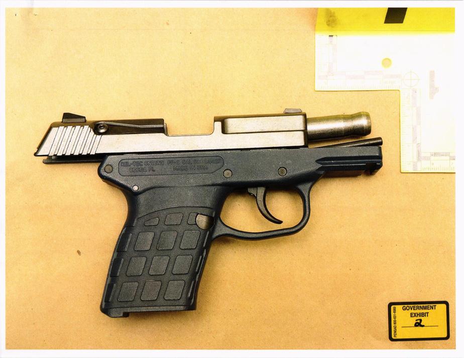 L'arme de poing chargée que portait Pascale Ferrier lors de son arrestation
