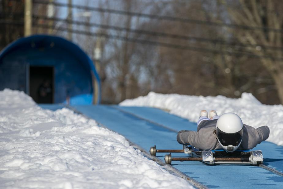 Patrick Farias a appris les rudiments du skeleton et rêve de participer aux Jeux olympiques.