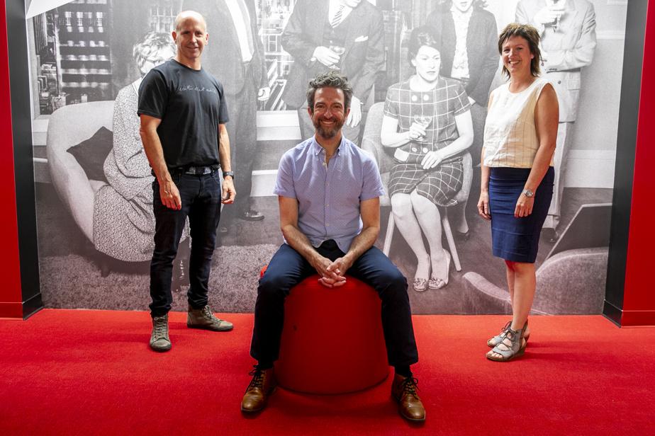 Les trois codirecteurs artistiques du Petit Théâtre du Nord (dans l'ordre): Sébastien Gauthier, Luc Bourgeois et Mélanie St-Laurent