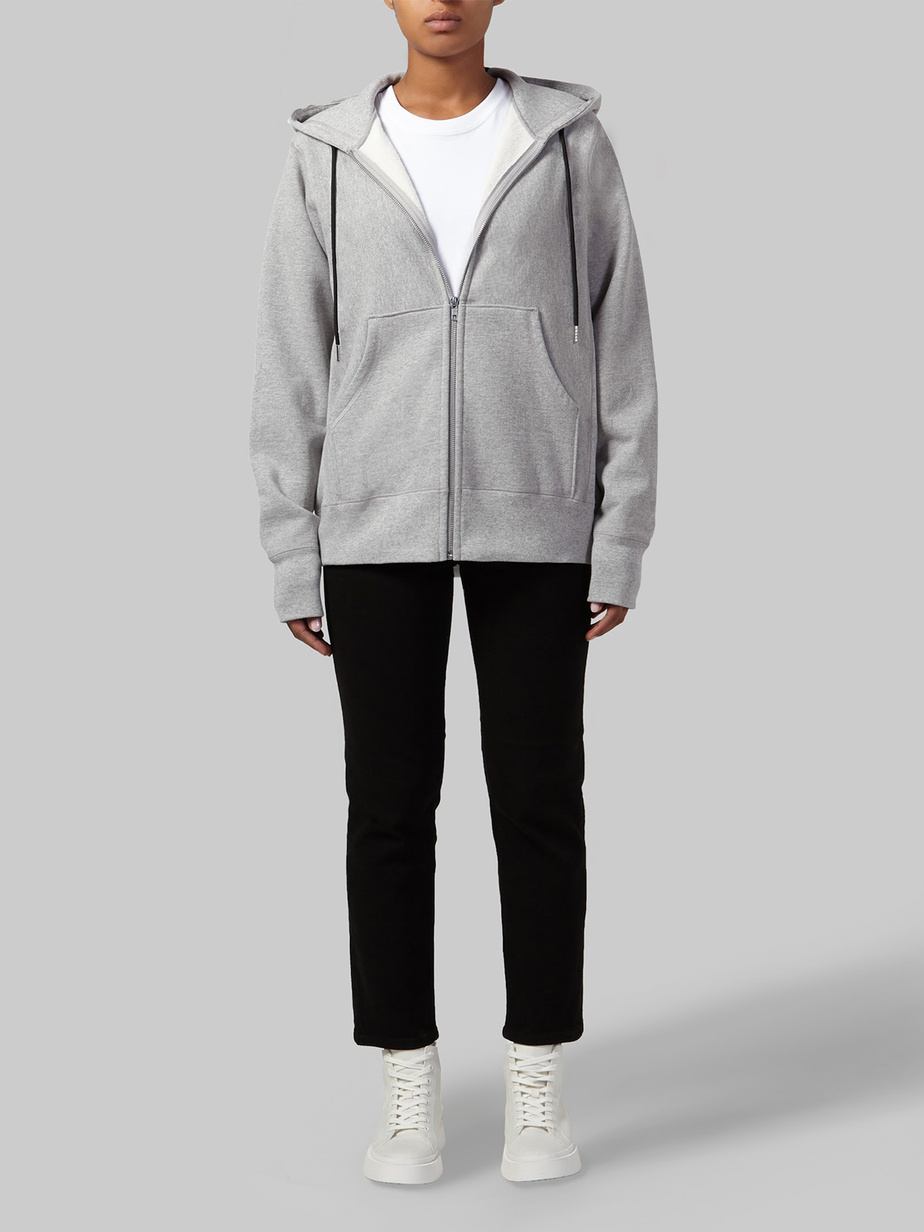 Chandail à capuchon zippé en coton américain, 147$