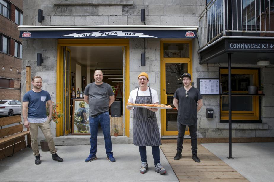 Une partie de l'équipe du Pontiac: Maxime Rousseau, Nicolas Rochette, Danny St Pierre et Frédéric Martel