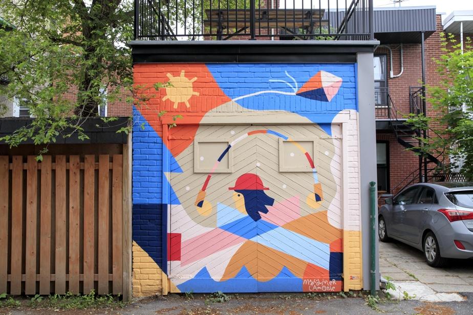 Une œuvre murale de Marc-Olivier Lamothe, qui fait partie de sa série Les murs de la joie