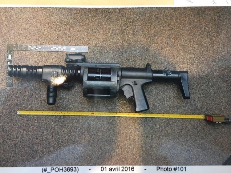L'arme intermédiaire Arwen37 utilisée par l'accusé Christian Gilbert, le 31mars2016