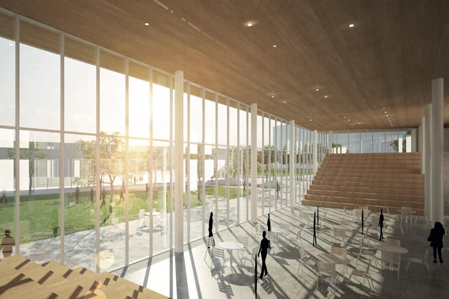 Vue intérieure de la future école secondaire qui sera construite à Sainte-Geneviève