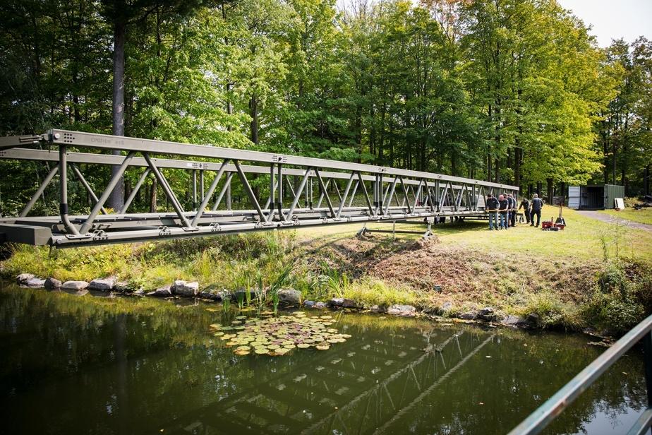 Le pont développé par MADDI Group a été testé par l'armée canadienne.