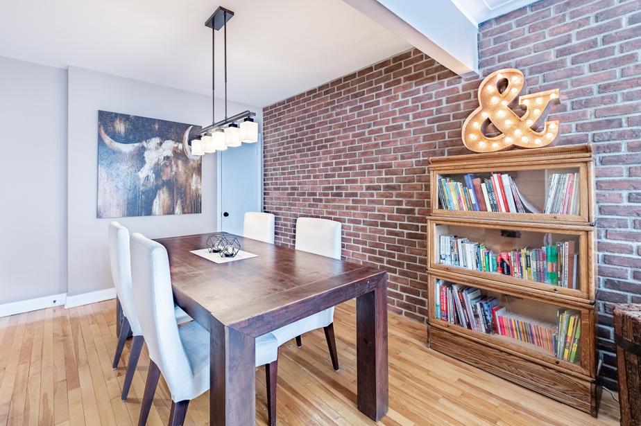 La salle à manger d'un des appartements