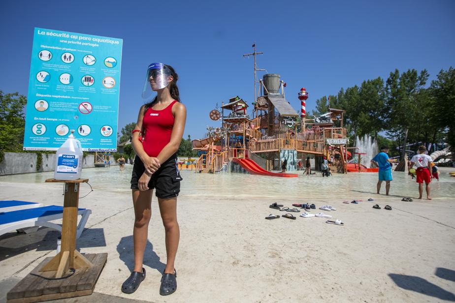 10 juillet 2020. Le Super Aqua Club de Pointe-Calumet a pris des mesures exceptionnelles pour assurer la sécurité de ses visiteurs et de ses employés en cette période de déconfinement.