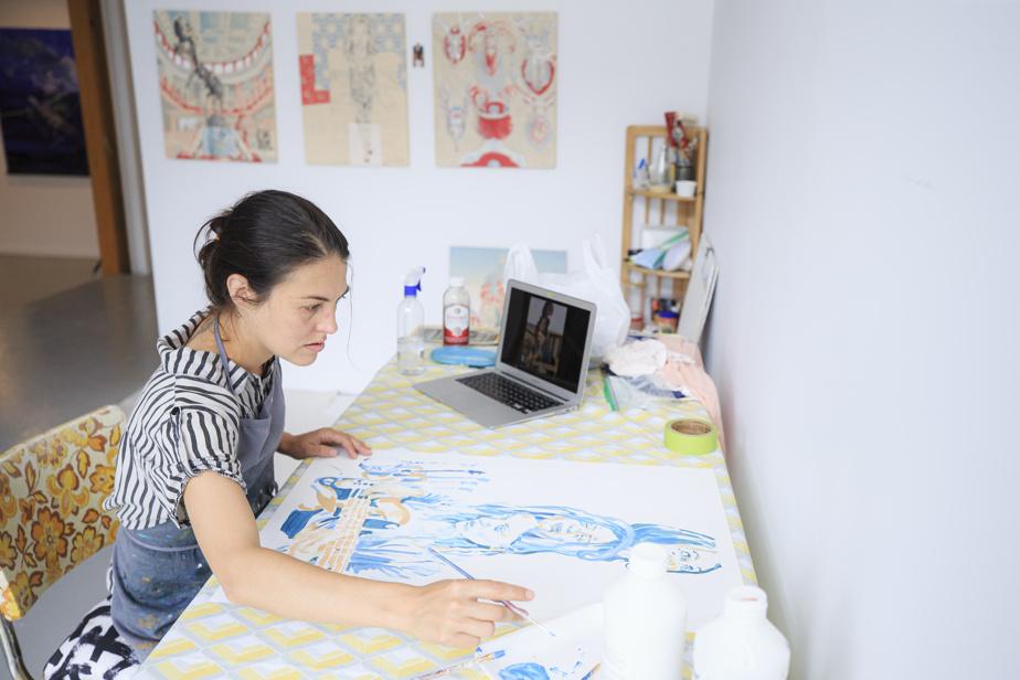 Marianne Pon-Layus dans son espace