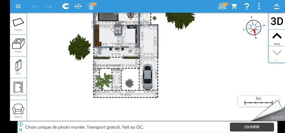 On jongle entre les plans précis et les visites en 3D.