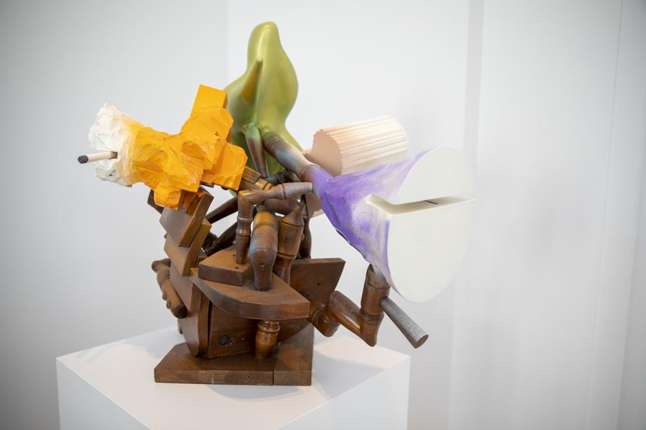 Révélation, 2015, bois et peinture. Collection MNBAQ.
