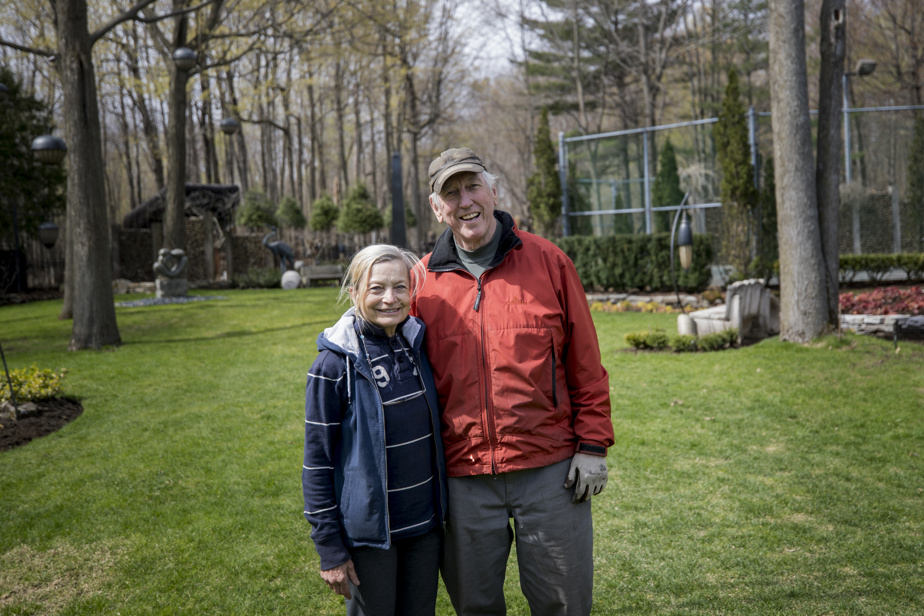 The Harmonia garden has flourished over the past 40 years thanks to the constant care given to it by Huguette Larocque and Clément Bessette.