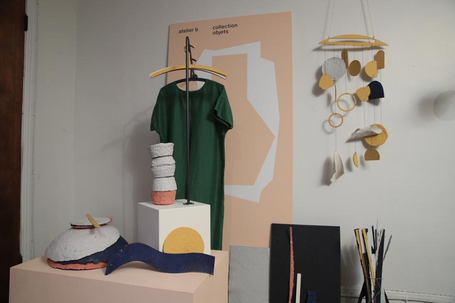 Quelques exemples de prototypes créés par atelier b avec son nouveau programme de revalorisation des textiles