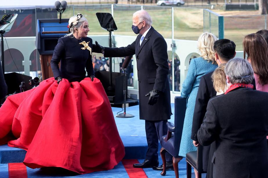 Lady Gaga et Joe Biden