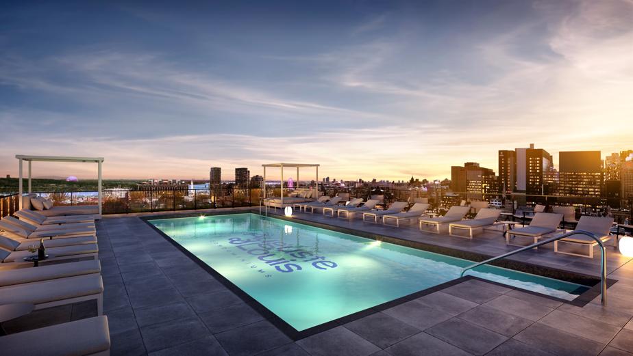 Le promoteur prévoit des aires communes spacieuses. Ici, la piscine extérieure.