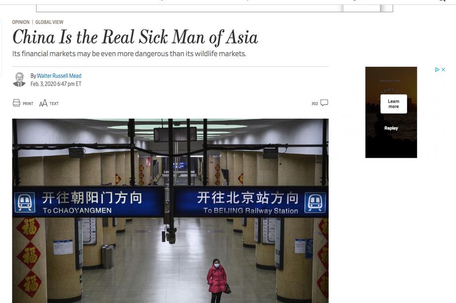 SAISIE D'ÉCRAN PAGE OPINIONS DU WALL STREET JOURNAL              Le texte d'opinion publié par la tribune libre du Wall Street Journal