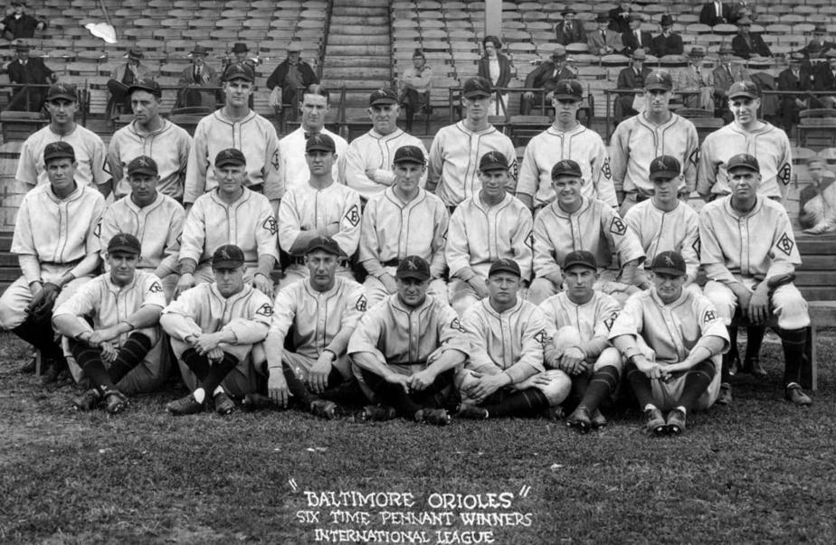 Photo d'équipe des Orioles de Baltimore, en 1924.