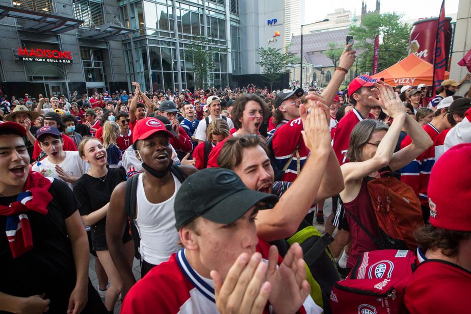 L'ambiance était à la fête, mais nombreux sont ceux qui espèrent une diffusion publique des matchs.