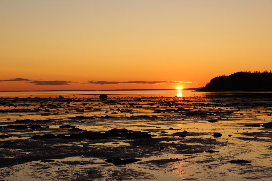 La baie du Ha! Ha! du parc national du Bic est un vrai paradis des couchers de soleil, assure notre lectrice.