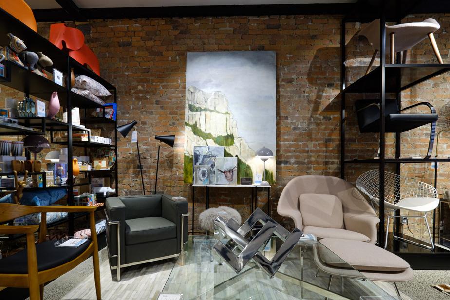 Les tableaux de Vanessa Stettle, copropriétaire de la Maison Prunelle, sont exclusifs à laboutique.