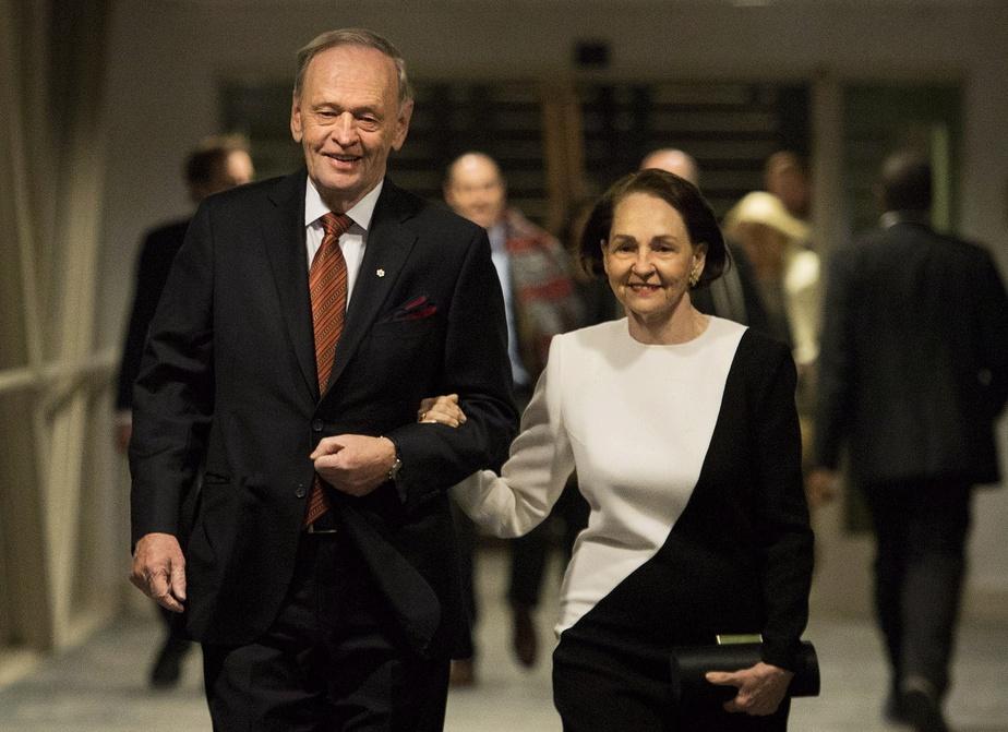 Jean Chrétien et son épouse Aline Chrétien, en 2014.