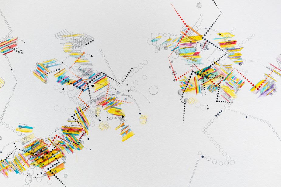 Détail de l'œuvre murale de Suzanne Joss