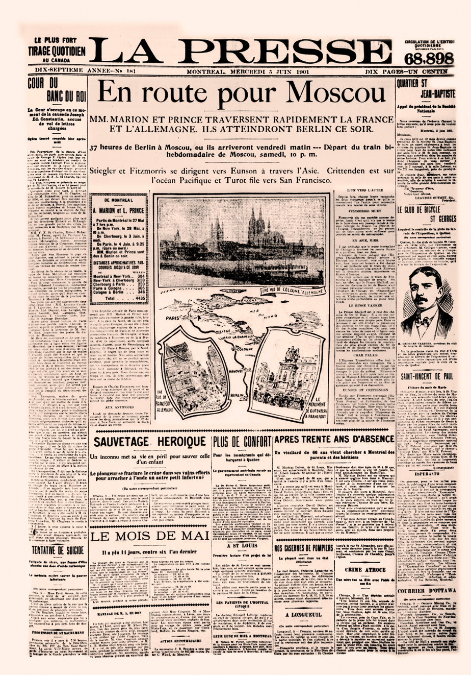 Une de La Presse du 5juin1901