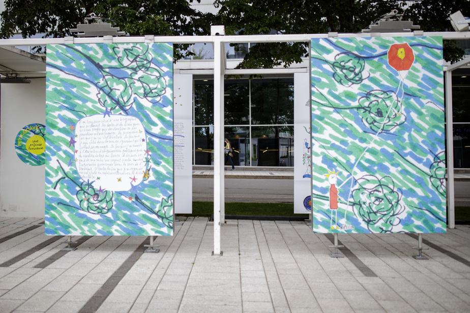 Un des panneaux de l'exposition