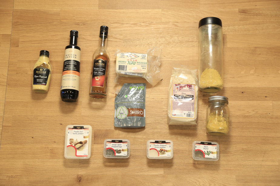 Les ingrédients nécessaires peuvent être achetés au supermarché. Attention de prendre de la levure alimentaire en flocons, pas de la levure à pain.