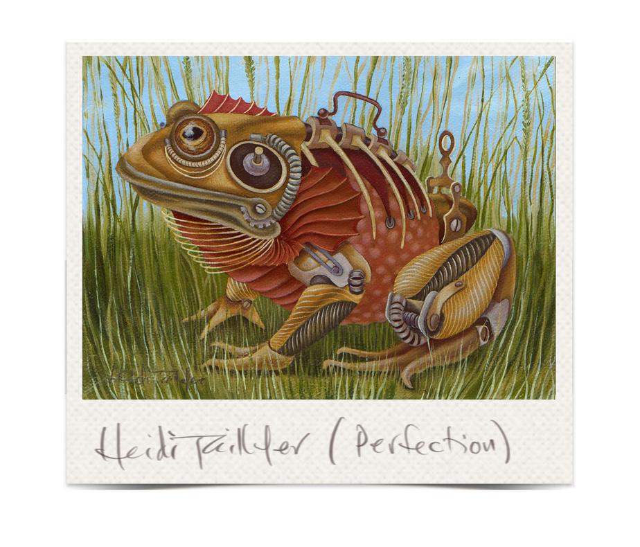 Perfection, 2021, Heidi Taillefer, huile sur toile, 5po x 7po