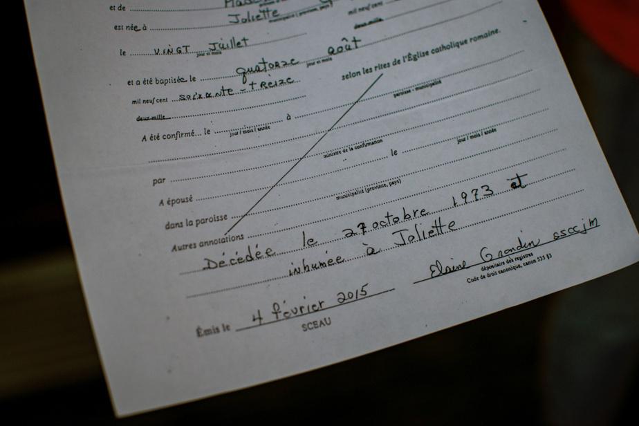 Certificat de décès délivré par le presbytère