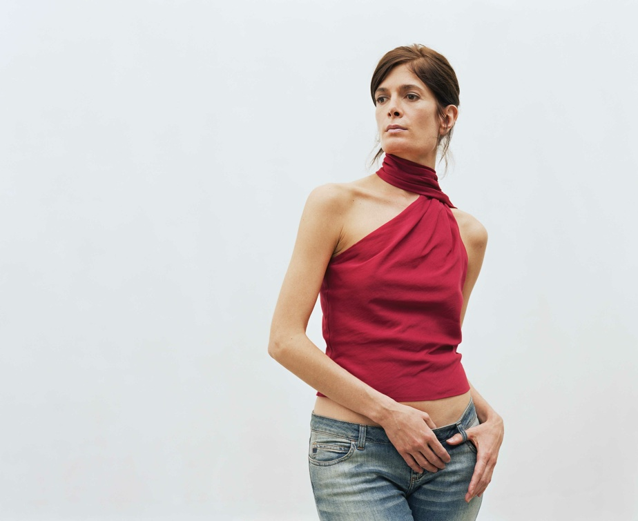 Barcelone (détail), 2003-2020, Geneviève Cadieux, épreuves au jet d'encre sur vinyle (la sœur de l'artiste, Anne-Marie Cadieux, a participé au projet).