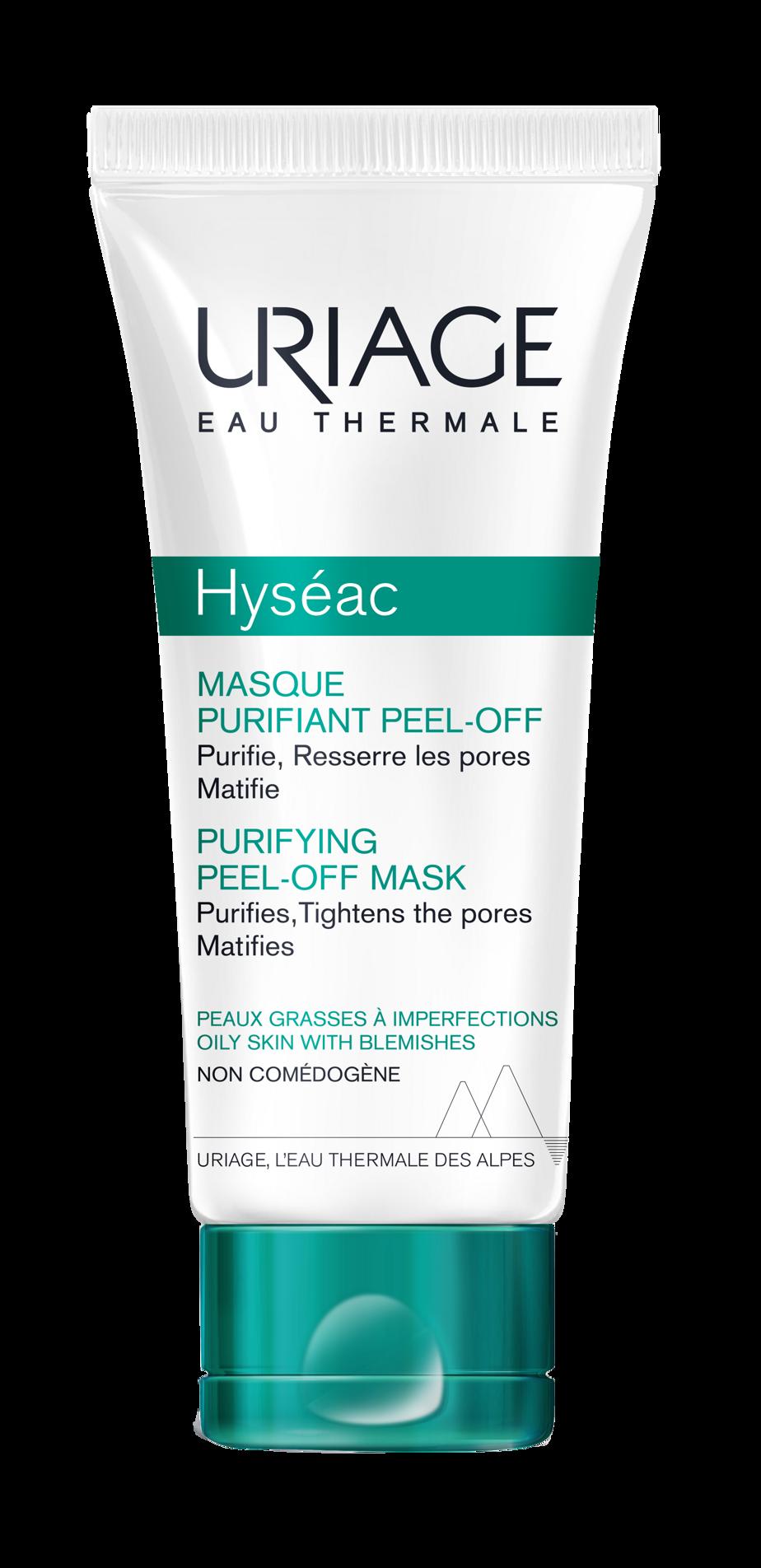 Le masque purifiant peel-off de la gamme Hyséac d'Uriage