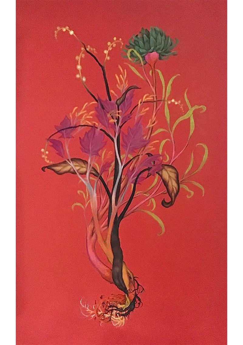 Tangle, Vascular No 1, une œuvre de 2020 de Zachari Logan, présentée par la galerie Slate Fine Art, de Regina.