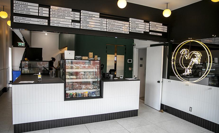 Le Laurier BBQ est situé dans un local restreint à l'intersection des rues Saint-Viateur et Jeanne-Mance. Bientôt, on pourra s'attabler dans la petite salle à manger.