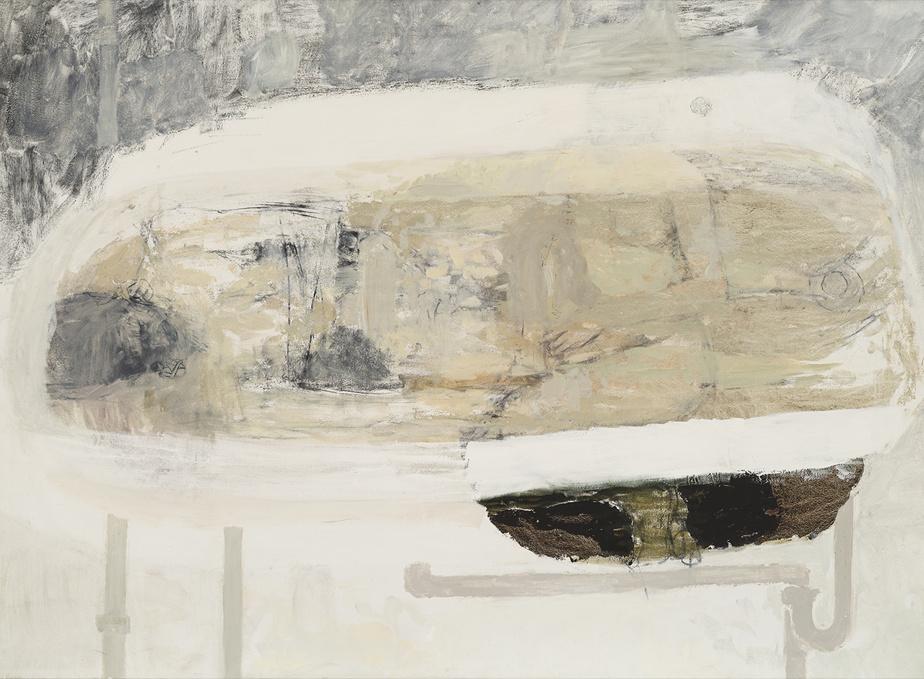 Rendez-vous doux pour jour de canicule, 2002, Julie Ouellet, huile sur toile, 142 x 193cm