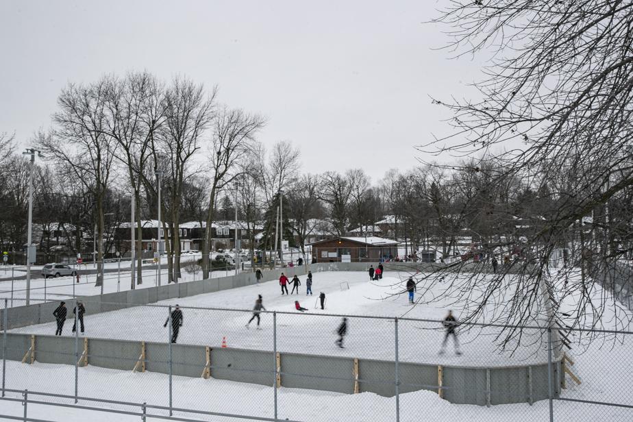 La patinoire du parc Windermere, à Beaconsfield, a fait des heureuxdimanche.