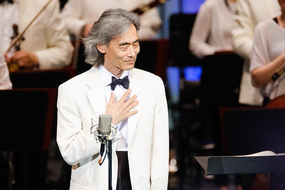 Le chef d'orchestre Kent Nagano qui, le 16juillet dernier, dirigeait pour la dernière fois l'Orchestre symphonique de Montréal, lors du concert d'ouverture du Festival de Lanaudière
