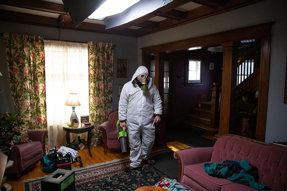 Notre photographe a visité le plateau de tournage du film Au nord d'Albany de la réalisatrice et productrice Marianne Farley.