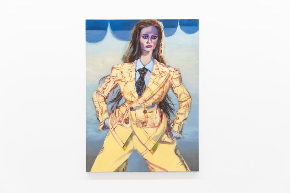 Lauren (yellow suit), 2021, huile sur toile, 175,5 x 129,5cm