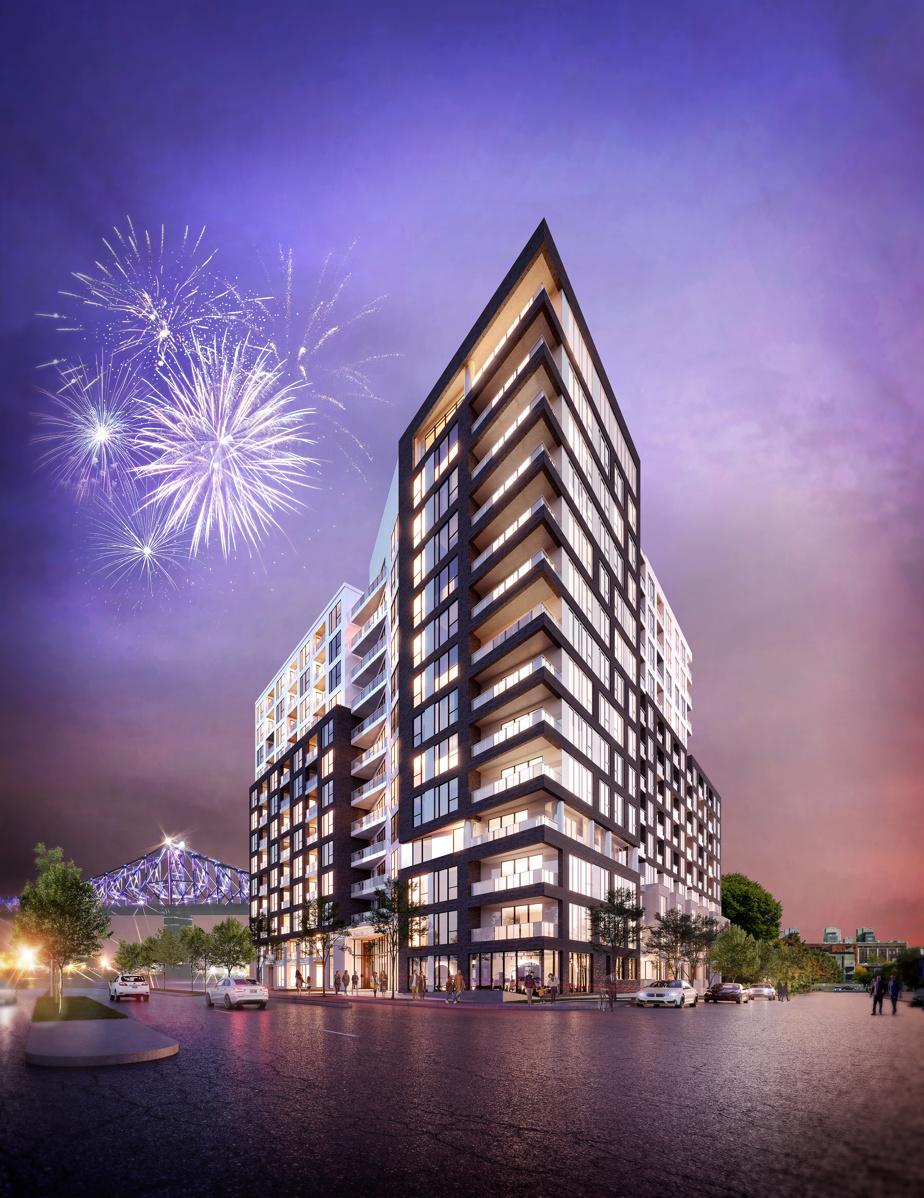 La phase 1 des condos Auguste & Louis comptera 14 étages.