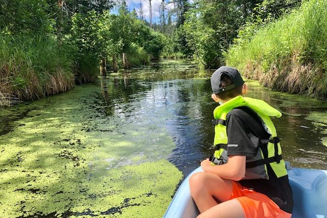 «Notre découverte de l'été est située à seulement 5minutes de la maison! Il s'agit d'uneexpédition de 6km en pédalo dans le marais/labyrinthe du parc nature Éco-Odyssée, situé à Wakefield, en Outaouais. Mes enfants de 10 et 11ans ont adoré! C'est un vrai petit bijou d'environnement tout vert.» — Karine Dubois