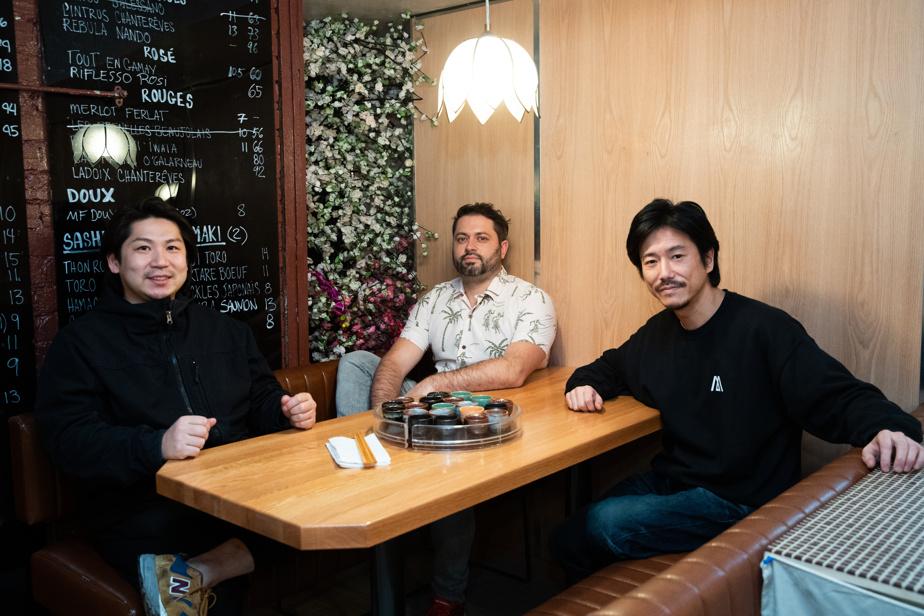 Hideyuki Imaizumi, accompagné de Sébastien D. Langlois et de Tetsuya Shimizu, chef sur place